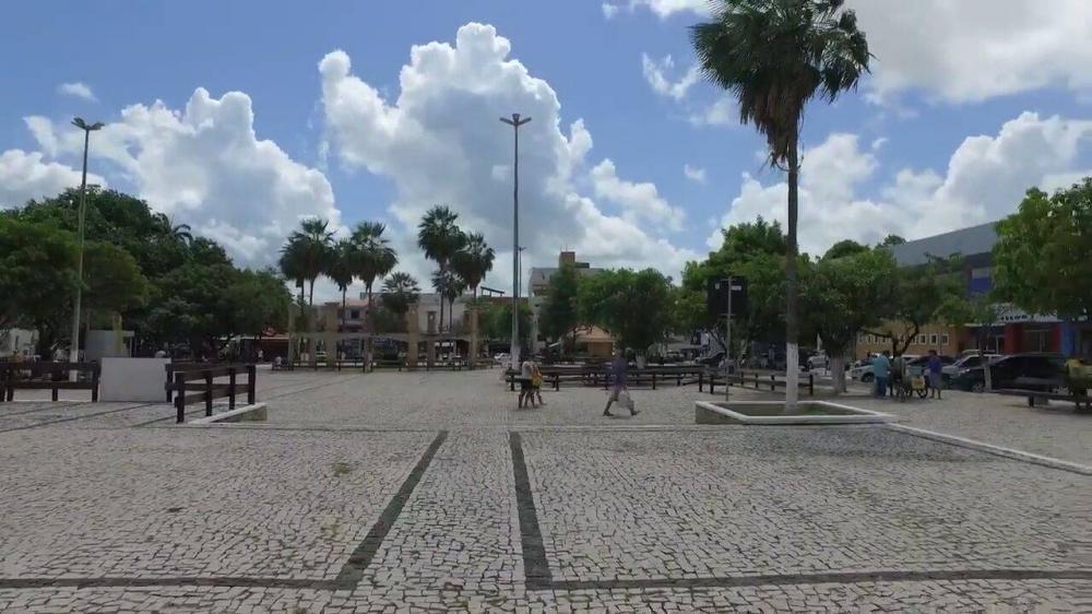 Praça da Matriz no Centro de Itapipoca