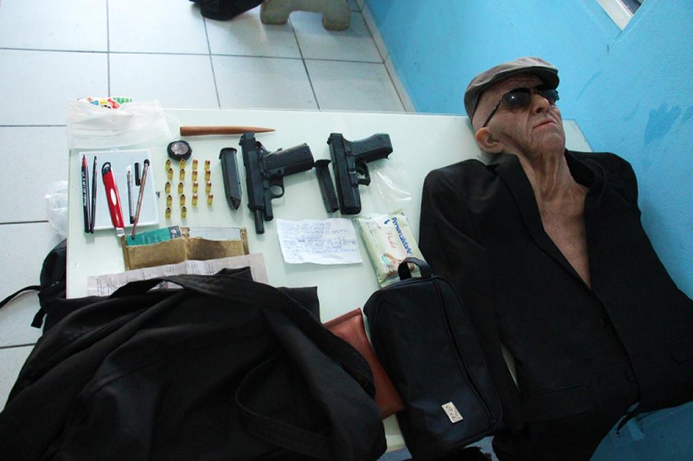 Máscara foi usada por ex-funcionário em assalto a banco — Foto: PM/Divulgação