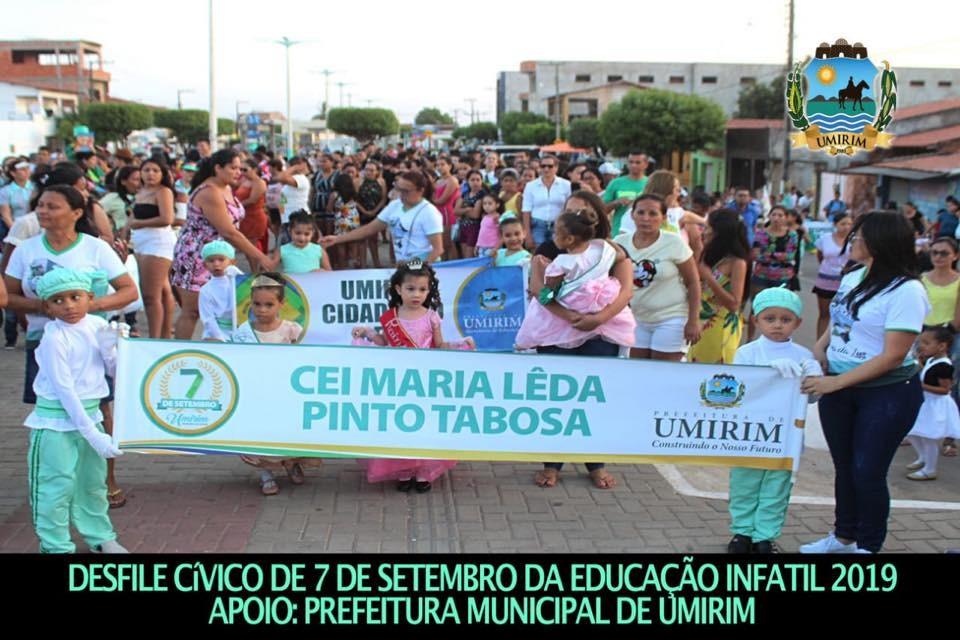 Desfile Cívico da Educação Infantil em Umirim; galeria de fotos
