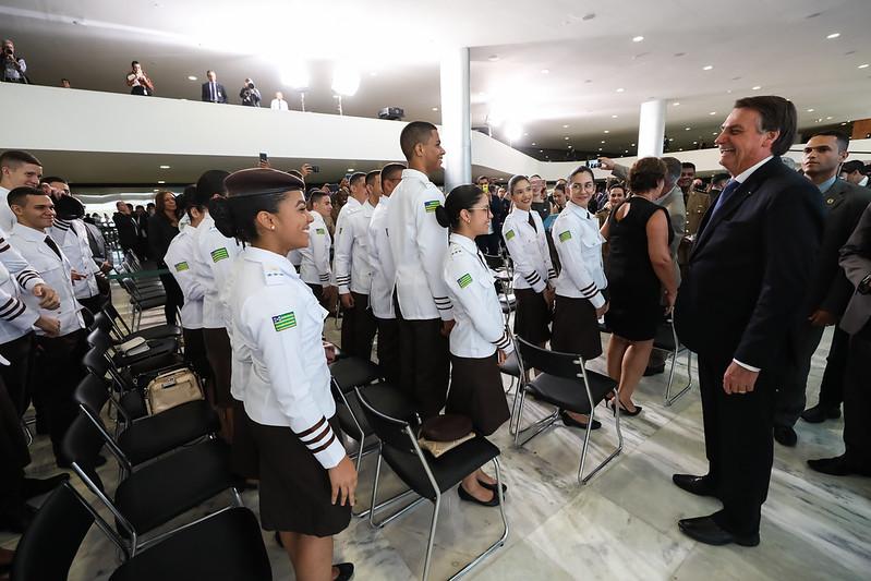 Presidente Jair Bolsonaro no lançamento do programa. (Foto: Marcos Corrêa/PR)
