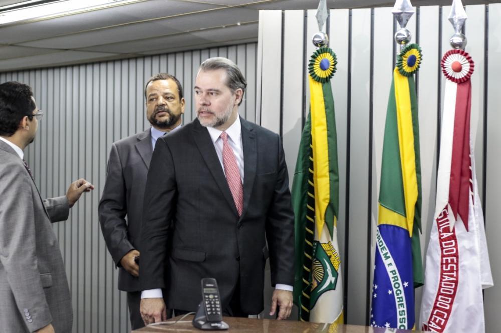 Presidente do Supremo Tribunal Federal, Dias Toffoli, no Tribunal de Justiça do Ceará, em agosto (Foto: Alex Gomes/ Especial para O POVO)