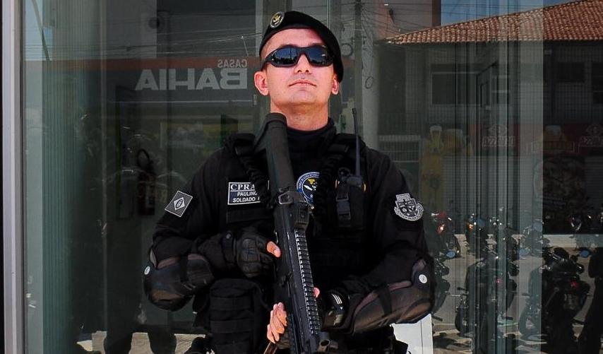 Sd. Paulino faz parte do Comando de Policiamento de Rondas e Ações Intensivas e Ostensivas (CPRaio)