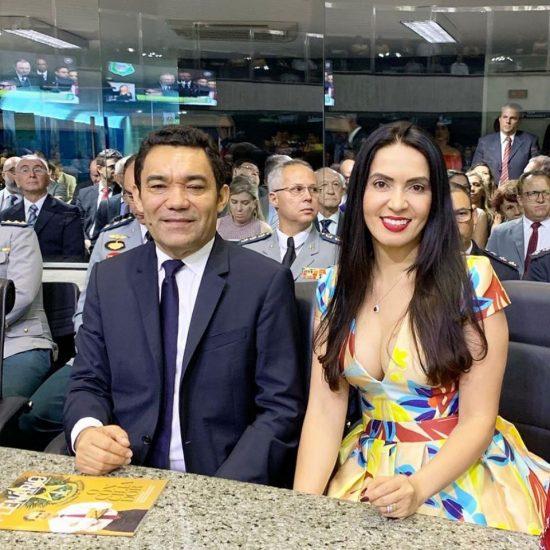 Deputados Genecias Noronha e Aderlânia Noronha (Foto: reprodução/Facebook)