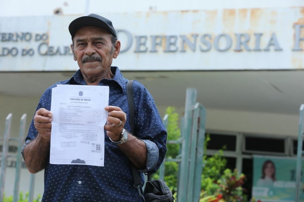 João Barbosa foi declarado morto há 35 anos e tenta provar que está vivo — Foto: José Leomar/SVM