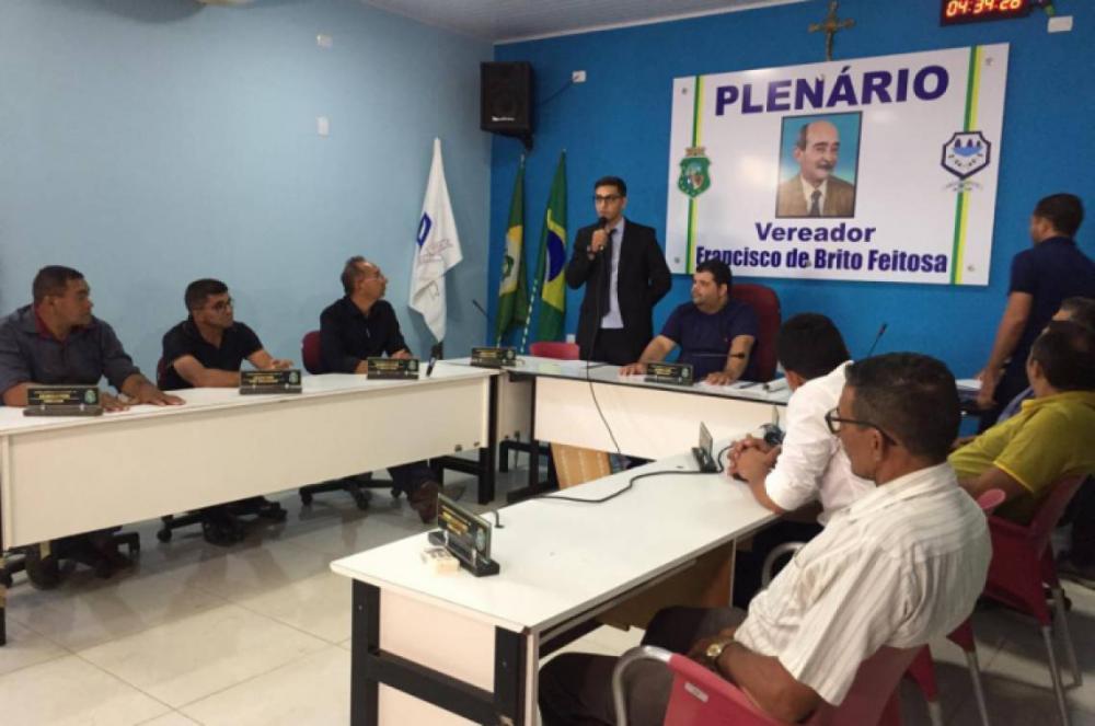Ticiano tomou posse no dia 27 de janeiro (Foto: Divulgação/Câmara Municipal de Granjeiro)