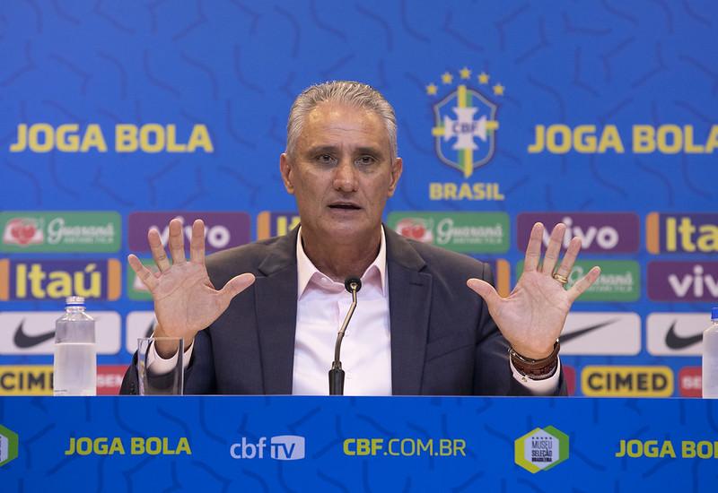 Tite, técnico da seleção brasileira de futebol.
