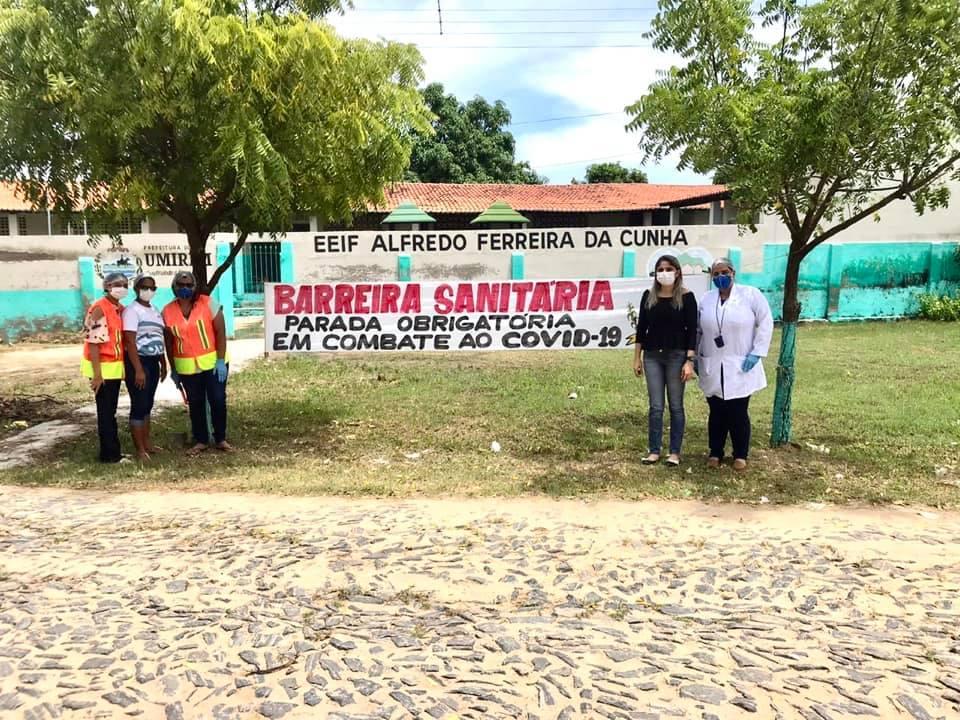 Secretaria de saúde de Umirim monta barreiras sanitárias contra Coronavírus
