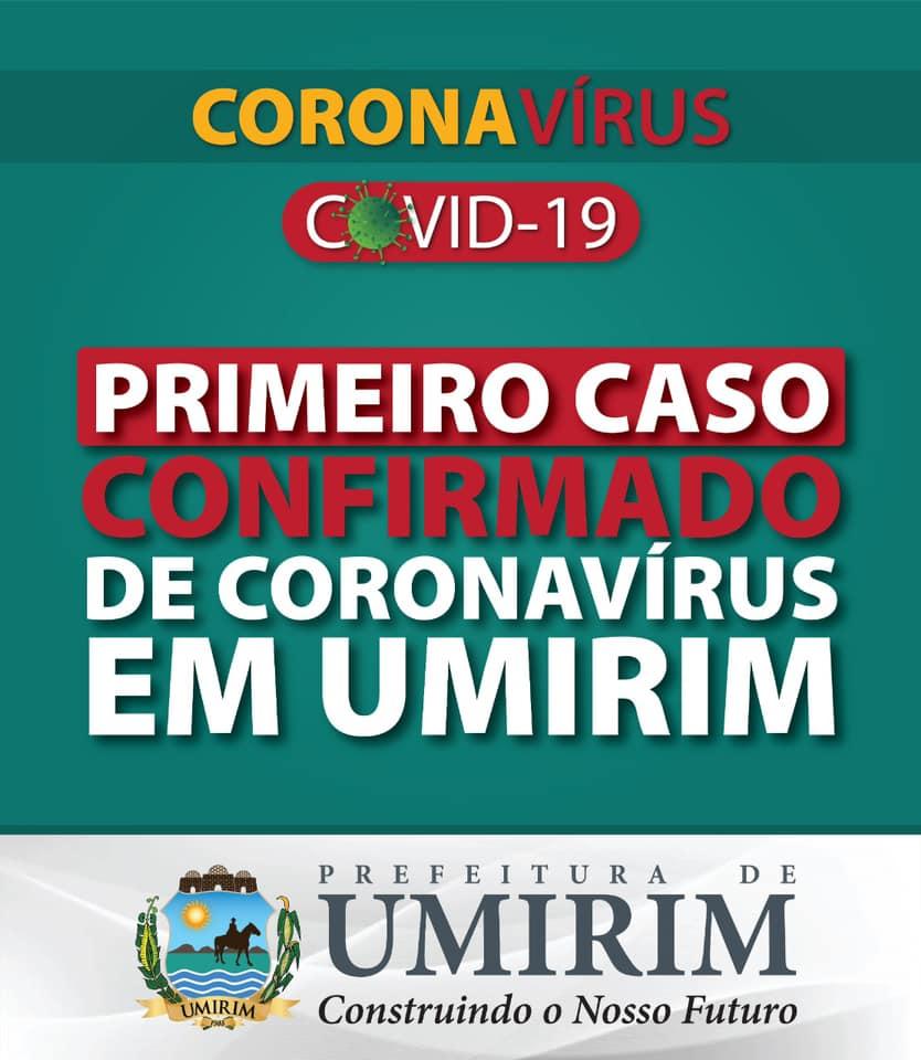 Confirmado primeiro caso de coronavírus em Umirim