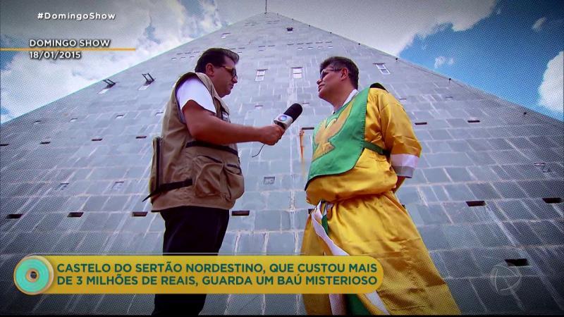 Apresentador Geraldo Luís relembra visita à pirâmide de Umirim